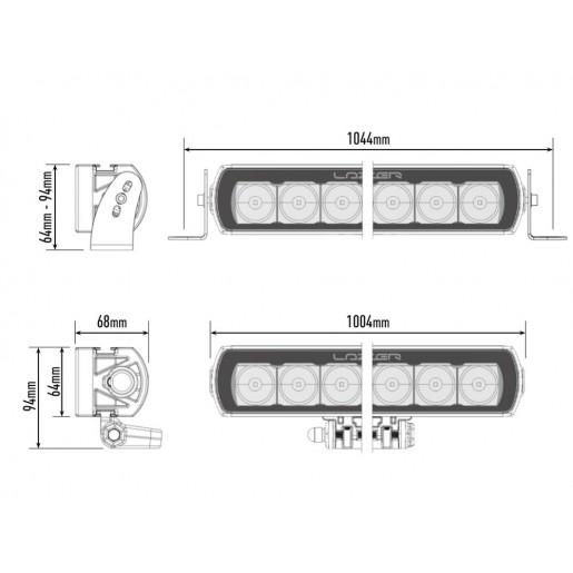 Светодиодная балка Lazerlamps T24 Evolution 0024-EVO-B