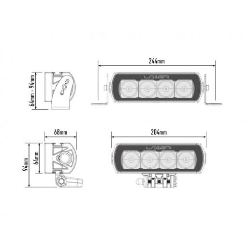 Прожектор светодиодный Lazerlamps ST4 Evolution 0004-EVO-B