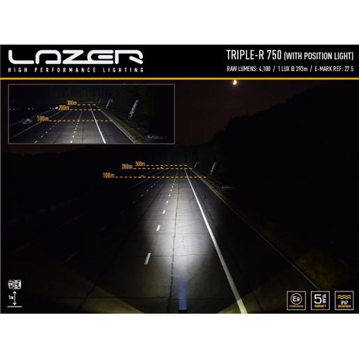 Прожектор светодиодный Triple-R 750 с габаритными огнями 00R4-PL-Std-B